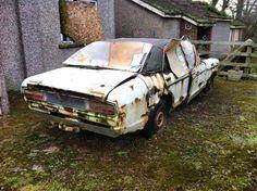 Mk1 granada.. Abandoned Cars, Abandoned Vehicles, Ford Granada, Car Barn, Rust In Peace, Barn Finds, Classic Cars, Scrap, Ford Vehicles
