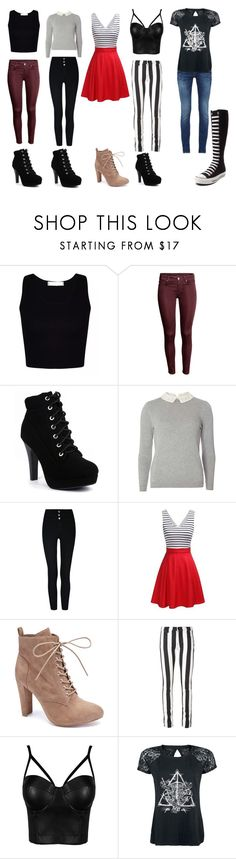 """""""More outfits that I've worn!"""" by tallis10918 ❤ liked on Polyvore featuring Dorothy Perkins, Wild Diva, Off-White and Converse"""