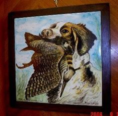 Custom single tile piece for a client that is a hunter.