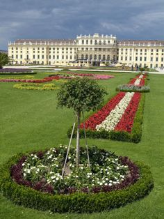 Palace and Gardens of Schonbrunn - UNESCO World Heritage Site - Vienna, Austria. The 1,441 room Schönbrunn Palace was built between 1696 and 1712 by Emperor Leopold I and turned into the imperial summer palace by Maria Theresa.