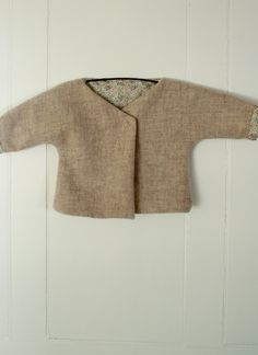 Molly's Sketchbook: Felted Wool Baby Jacket - The Purl Bee - Knitting Crochet Sewing Embroidery Crafts Patterns and Ideas! Purl Bee, Baby Sewing Projects, Sewing For Kids, Sewing Crafts, Wool Felt, Felted Wool, Baby Couture, Hand Knitted Sweaters, Jacket Pattern