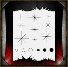 Airbrush Stencil Template Airsick Fade Stencil