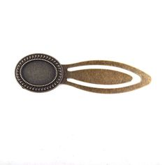 5pcs/lot Antique Brass Bronze Bookmark Base- 18x13mm Oval Cabochon base, Antique Bronzed Tone jewelry findings & components #Affiliate