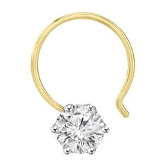 Why wear a simple nose ring or stud when you can wear stunning fiona solitaire nose ring?