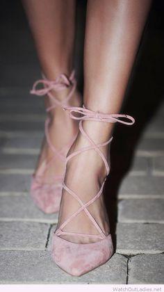 Sweet pink ballerina heels