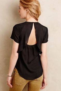 #anthrofave Ina Ruffled Silk Top - anthropologie.com
