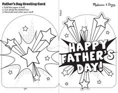 Fathers Day Card Template Free New Free Printable Fathers Day Cards to Color Coloring Home Free Fathers Day Cards, Fathers Day Crafts, Father's Day Printable, Free Printable Cards, Free Printables, Father's Day Card Template, Fathers Day Coloring Page, Father's Day Activities, Father's Day Greeting Cards