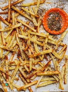 Oven baked, crispy fries that are packed with Middle Eastern flavours. Perfect as a slimming friendly snack or part of a main meal!