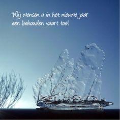 Uniek ijsbootje met de beste wensen, unique ice-boat with editable text at Kaartje2go - Creagaat kerst