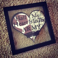 """New dorm room decoration!(: """"Half My Heart Is In The ARMY."""""""