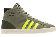 NEW ADIDAS BASKET PROFI OG Originals MENS 12 Tent Green Electric Yellow NWT #adidas #Athletic