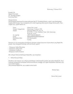 Contoh Surat Lamaran Tanpa Informasi Inisiatif Sendiri Backup Gambar