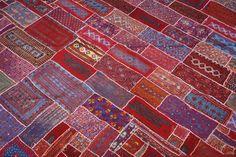 Vintage Bettüberwurf Tagesdecke Patchwork-Traum Wüste Kutch Indien orient Unikat | eBay