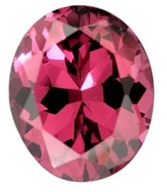 Rhodolite 110807: Natural Fine Rose Pink Rhodolite Garnet - Oval - Tanzania - Top Grade BUY IT NOW ONLY: $31.5