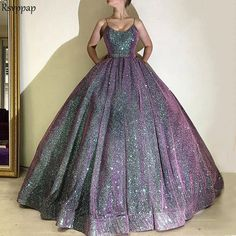 Long glitter saudi arab ball gown evening dresses 2018 lace up real picture Cute Prom Dresses, Prom Outfits, Elegant Dresses, Pretty Dresses, Beautiful Dresses, Formal Dresses, Ladies Dresses, Ball Gowns Evening, Evening Dresses