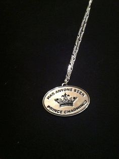 "Missing prince necklace On 16"" silver coloured chain $16"