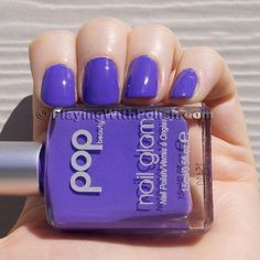 "Pop ""Ultraviolet"" is a pale lavender-ish color. I can't say too much for the formula... I think it's separating. I love the color though..."