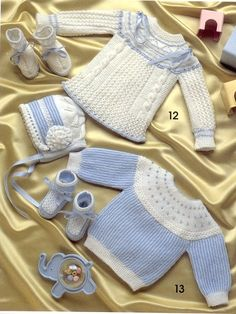 """Photo from album """"Especial Bebes on Yandex. Crochet Socks Pattern, Baby Knitting Patterns, Baby Patterns, Baby Clothes Blanket, Knitted Baby Clothes, Baby Jessica, Tricot Baby, Baby Barn, Baby Pullover"""