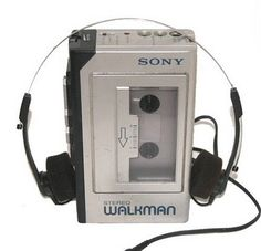 """The Walkman. I remember when this was cool. Also when the """"discman"""" became popular and the walkman was out-dated. Today's kids and their ipods/iphones will have no clue. I totally remember delivering newspapers listening to tapes on my walkman! Childhood Toys, My Childhood Memories, Best Memories, Childhood Quotes, Memories Box, Cherished Memories, Back In The 90s, Popular Toys, Oldschool"""