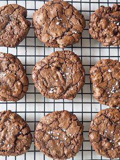 Brownie Cookies, Vegetarian Recipes Dinner, Food Porn, Dessert Recipes, Food And Drink, Sweets, Snacks, Chocolate, Cooking