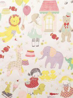 Alexander Henry Fabric Tinker Toyland Cream/Pastel