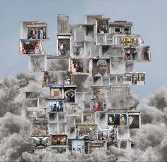 """""""Memorias construidas """" [Sala Canal de Isabel II, 26 de abril - 26 de agosto de 2012] Rosa Muñoz. Uno de los ragos más personales del trabajo de Rosa Muñoz en la cuidada, pensada y muy laboriosa puesta en escena que los acoge. Escenarios muy limítrofes con la estética de cierto surrealismo."""