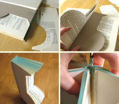 Crafting: Book Vases from Lillyella: Uniquely You