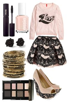 """Untitled #27"" by scooterlover03 ❤ liked on Polyvore featuring H&M, RED Valentino, Timeless, Bobbi Brown Cosmetics, Amrita Singh, Marc by Marc Jacobs, INIKA and Essie"