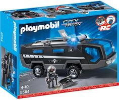 PLAYMOBIL 5564 Special agent truck with light and sound: Amazon.co.uk: Toys & Games