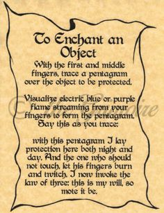 Enchant-an-Object-spell-page-for-Book-of-Shadows-BOS-Pages-Wicca-Poster