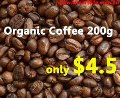 Premium Organic Coffee 200g Only $4.5! Super @@ http://www.ismartlife.com.au/products/p-n-g-premium-organic-coffee-whole-bean-200g.html  http://www.ismartlife.com.au/products/p-n-g-premium-organic-ground-coffee-200g.html