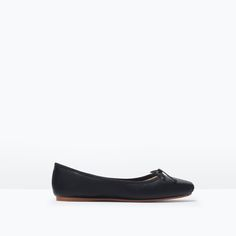 Image 1 of LEATHER BALLERINA FLATS from Zara