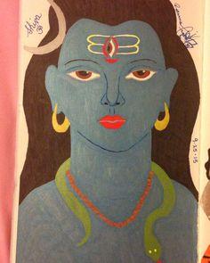 Shiva Om.  Ink pen on card stock.  By: Roxanna Arnett  Year: 2015