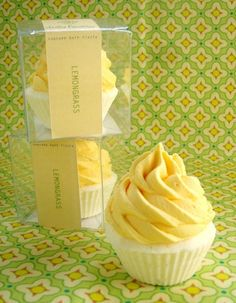 lemongrass cupcake bath fizzie...fyi these are made by a girl from kc.
