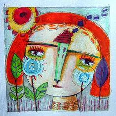 Pinzellades al món: Il·lustracions de Magaly Ohika: sentiments i colors de primavera, bellesa en femení