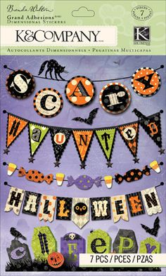 K and Company - Haunted Collection - Halloween - Grand Adhesions - Words