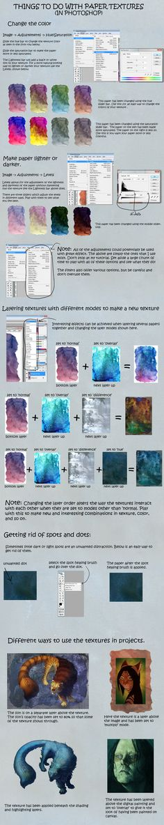 Using my textures in Photoshop: a basic tutorial by hibbary on deviantART