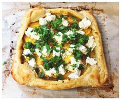 Curried butternut squash tart with goat cheese. Casaycocina.wordpress.com