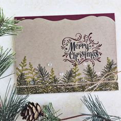 Merry Christmas Card by Heather Nichols for Papertrey Ink (September 2016)