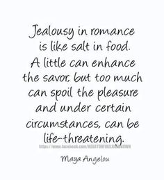 Jealousy ruins relationships