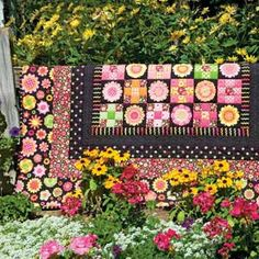 Fun Flower Nine Patch Quilt pattern Beginner by marcellassewing, $2.99