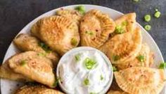 Pierogies can be filled with ingredients of your choice. Sweet or savory, these Polish dumplings freeze well for later as a make-ahead freezer meal. Potato Dumpling Recipe, Pierogi Recipe, Polish Dumplings, Make Ahead Freezer Meals, Frozen, Potatoes, Meat, Platter, Recipes