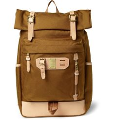 surpass leather trimmed nylon backpack ++ master-piece