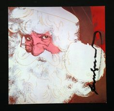 Andy Warhol Santa Signed Bookplate