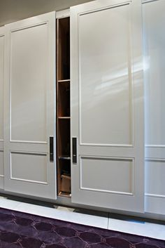 Door profile detail, wood interior, sliding door hardware - Rosedale Restoration