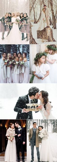 unique wedding photos for winter wedding ideas