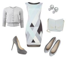 """""""Платье рабочее"""" by chem9kina on Polyvore featuring мода, Tahari by Arthur S. Levine, Allude, Ted Baker и Jimmy Choo"""