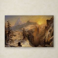 Winter in Switzerland 1860 by Jasper Cropsey Painting Print on Wrapped Canvas