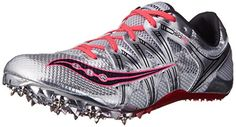 Saucony Women's Showdown 2 Track Shoe: Speed is at the crux of this vibrant track shoe from Saucony. Spike Shoes, Hipster Sweater, Sweaters For Women, T Shirts For Women, Sweatshirt Outfit, Track And Field, Hiking Boots, Athletic Shoes, Road Running
