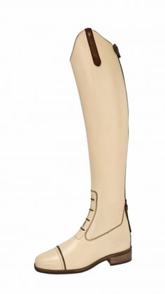 Petrie Coventry boots in champagne off white. To die for...